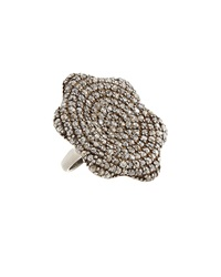 Bavna Floral Shape Pave Diamond Ring