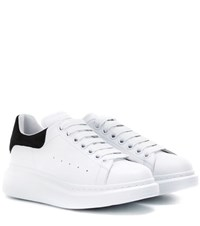 Alexander Mcqueen Leather Sneakers White
