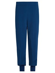 Stella Mccartney Julia Tapered Cady Trousers Blue