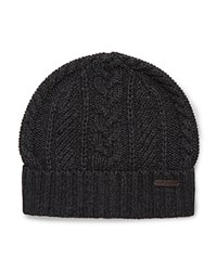 Ted Baker Cable Knit Beanie Charcoal