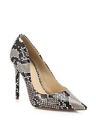 Alexandre Birman Olga Python Pumps Natural