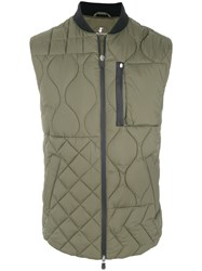 Save The Duck Quilted Waistcoat Polyester M Green