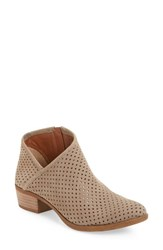 Lucky Brand Women's Breeza Perforated Bootie Brindle Leather