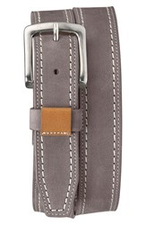 Men's Trask 'Alpine' Nubuck Leather Belt Gray