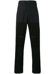 Lanvin Patch Straight Leg Trousers Blue