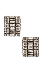 Elizabeth Cole Karen Earrings In Metallic Silver.