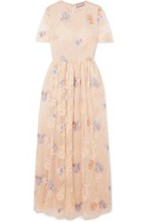 Paul And Joe Embellished Tulle Maxi Dress Neutral
