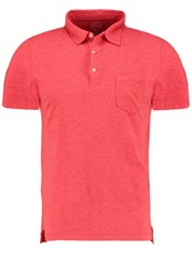 J.Crew Slim Fit Polo Shirt Heather Barn Red