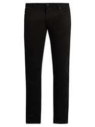 Jacob Cohen Tailored Slim Leg Stretch Denim Jeans Black