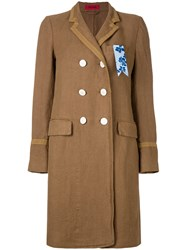 The Gigi Double Breasted Coat Brown