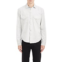 Earnest Sewn Men's Denim Irving Shirt White
