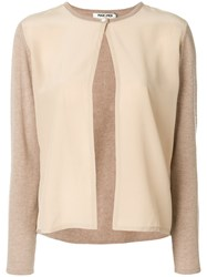 Max And Moi Classic Button Cardigan Cashmere Nude Neutrals