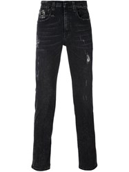 R 13 R13 Slim Fit Jeans Black