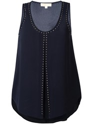 Michael Michael Kors Studded Tank Top Blue