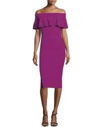 La Petite Robe Di Chiara Boni Off The Shoulder Contour Popover Dress Vinaccia