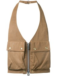 The Soloist Utility Pocket Gilet Brown