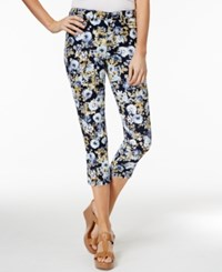 Charter Club Bristol Print Capri Jeans Only At Macy's Light Blue