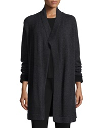 Eileen Fisher Cashmere Draped Mid Length Cardigan Petite