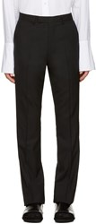 Raf Simons Black Wool Flared Trousers