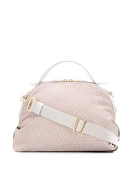 Borbonese Micro Print Cross Body Bag Neutrals