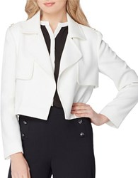 Tahari By Arthur S. Levine Cropped Trench Jacket Cloud