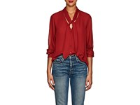 L'agence Gisele Silk Blouse Red
