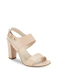 Cole Haan Octavia Block Heel Leather Sandals Nude