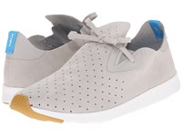 Native Apollo Moc Pigeon Grey Shell White Natural Rubber Shoes Gray