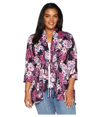 Kiyonna Lorie Printed Bellini Tropical Orchid Clothing Multi