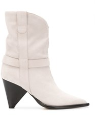 Aldo Castagna Pointed Ankle Boots White