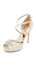 Badgley Mischka Cacique Peep Toe Pumps Ivory