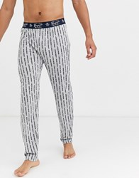 Penguin Lounge Pants In Grey And Black Check