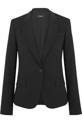 Theory Gabe Stretch Wool Crepe Blazer Black