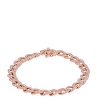 Kenza Lee Chain Link Bracelet Female Rose Gold
