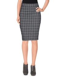 Only Knee Length Skirts Grey