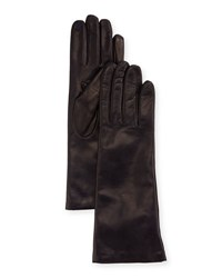 Portolano Cashmere Lined Napa Leather Gloves Navy