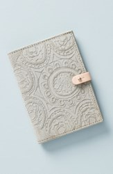 Anthropologie Foxglove Suede Passport Cover Grey