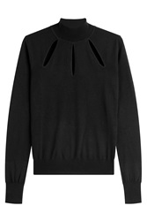 Thierry Mugler Mugler Wool Pullover With Cut Outs Black