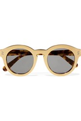 Stella Mccartney Round Frame Gold Tone And Acetete Sunglasses