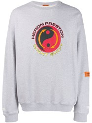 Heron Preston Logo Print Sweatshirt Grey