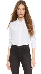 Equipment Shiloh Button Down Blouse Bright White True Black