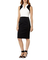 Karen Millen Broderie Inset Sheath Dress Black White