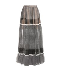 Stella Mccartney Elsa Silk Blend Skirt Black