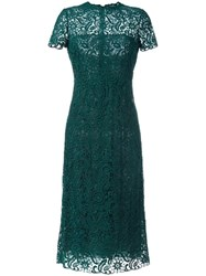 Valentino Embroidered Dress Green