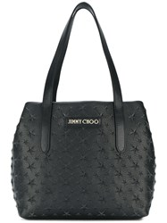 Jimmy Choo Small Sofia Star Studded Tote Black