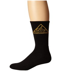 Obey Federated Sock Black Gold Men's Crew Cut Socks Shoes