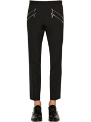 Dsquared Cool Guy Double Zip Stretch Wool Pants Black