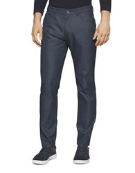 Calvin Klein Dobby Textured Pants Officer Navy