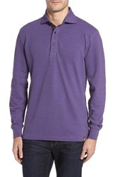 Thaddeus Men's Perry Long Sleeve Polo Mulberry