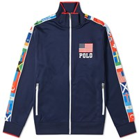 Polo Ralph Lauren Flag Taped Track Jacket Blue
